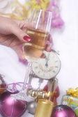 Nyårsafton och champagne — Stockfoto