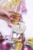 Silvester und champagner — Stockfoto