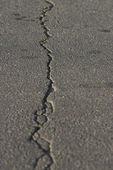 Asphalt with crack — Stock Photo