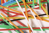 Colored straw — Stock Photo