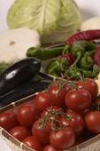 Veggie basket — Stock Photo