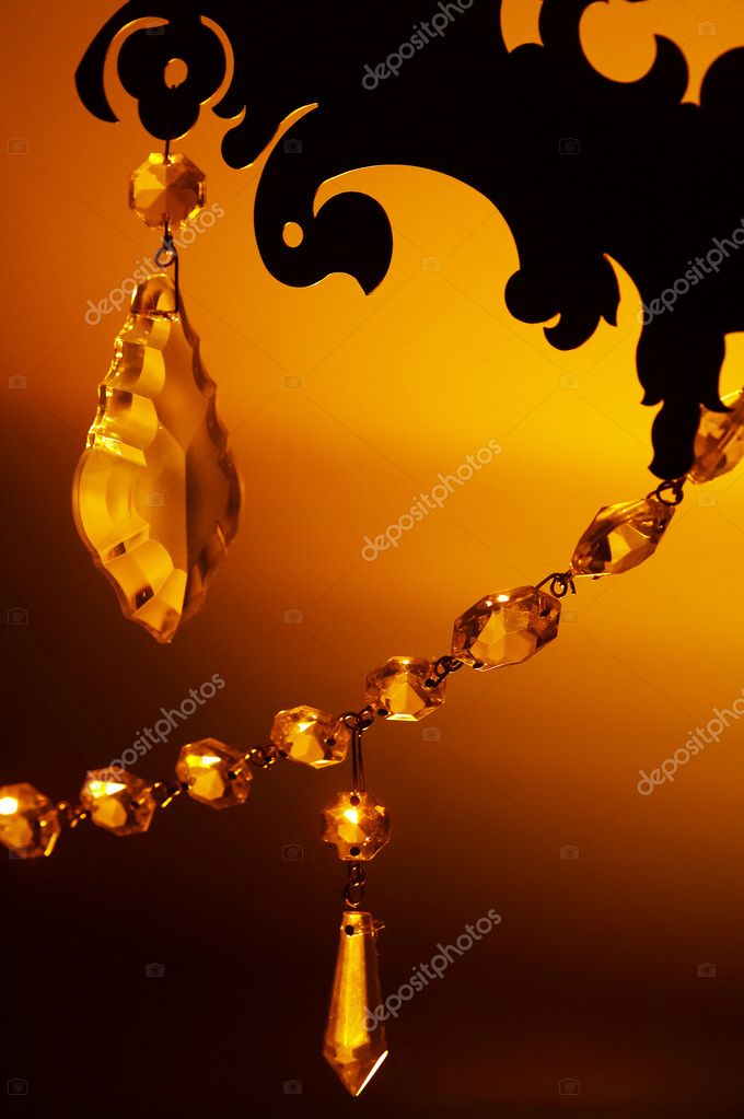 Golden background with crystal for Valentine day or wedding  Stock Photo #1473898
