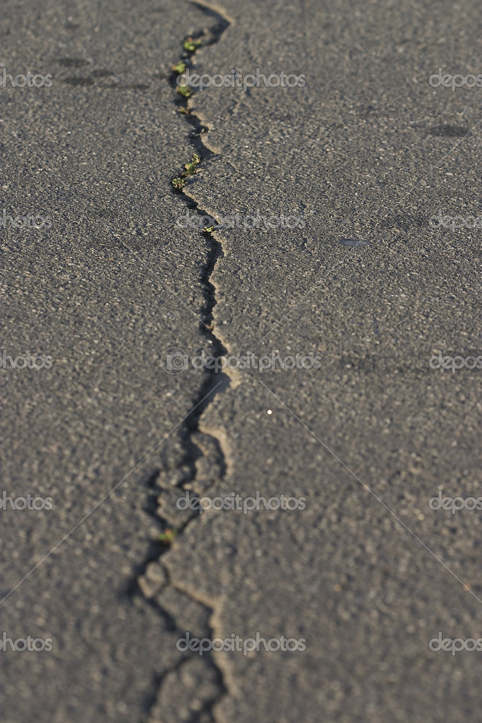 Texture series: asphalt road pavement backgroud with crack — Stock Photo #1476470