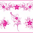 Stock Vector: Pink flower pattern