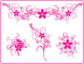 Pink flower pattern — Stock Vector