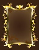 Golden vintage frame — Stock Vector