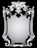 Silver vintage frame — Stock Vector
