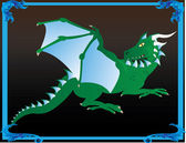 Fantasy dragon — Stock Vector