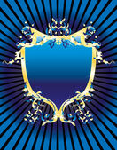 Blue vintage banner — Stock Vector