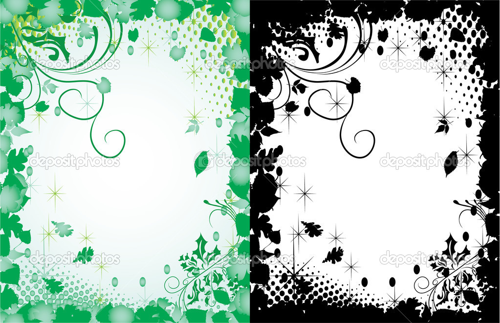 Spring vector frames in two variants — Stock Vector #1891714