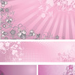 Pink backgrounds collection — Stock Vector #2490645