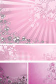 Pink backgrounds collection — Stock Vector
