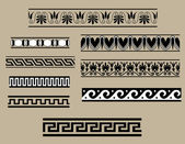 Traditional architectural ornament set — Stock Vector