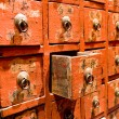 red drawer of old fashioned chinese cabi — Stock Photo #1272640