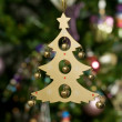 Stock Photo: Christmas toy - wooden tree with green t
