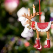 Stock Photo: Christmas toy - deer with tree and light