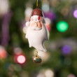 Christmas toy - santa with tree and lig — Stock Photo