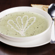 Bowl of brocolli soup — Stock Photo