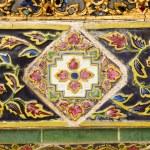 Ancient ceramic tiles on walls — Stock Photo #1274068