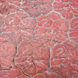 Red stone paving on the street — Stock Photo