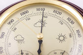 Close up of barometer on white — Stock Photo