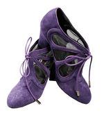 紫色女鞋子 — 图库照片