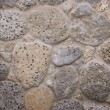 Grey granit stones mounted in wall — Stock Photo