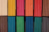 Multi colored plasticine in box — Stock Photo