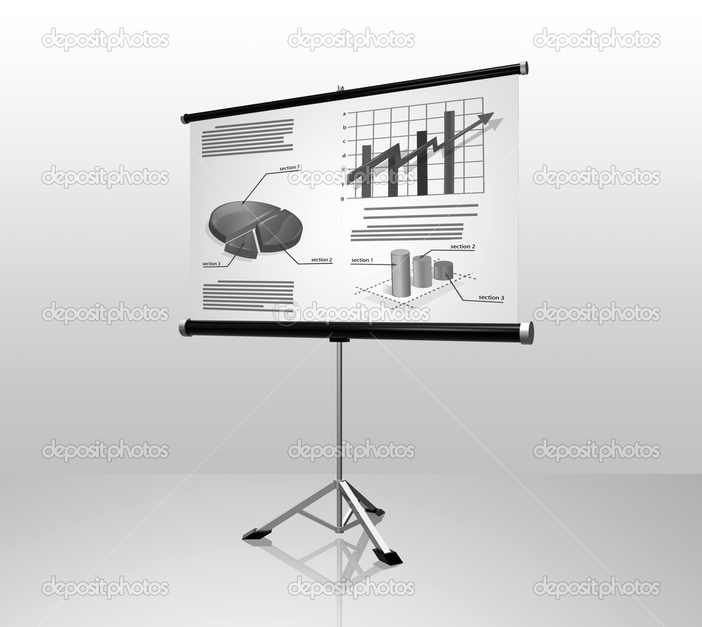 White conference screen — Stock Photo #1217587