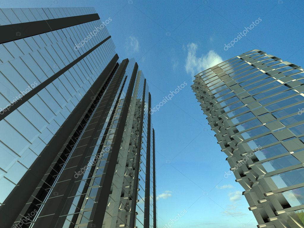 Image of skyscraper. 3d rendered illustration  Stock Photo #1264302