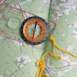 Compass and map — Stock Photo #1225673
