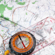 Compass and map — Stock Photo #1225684