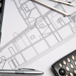 Stock Photo: Construction blueprint