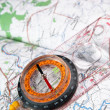 Compass and map — Stock Photo #1226933