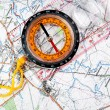 Compass and map — Stock Photo #1226938