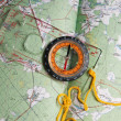 Compass and map — Stock Photo #1227349