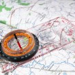 Compass and map — Stock Photo #1227478