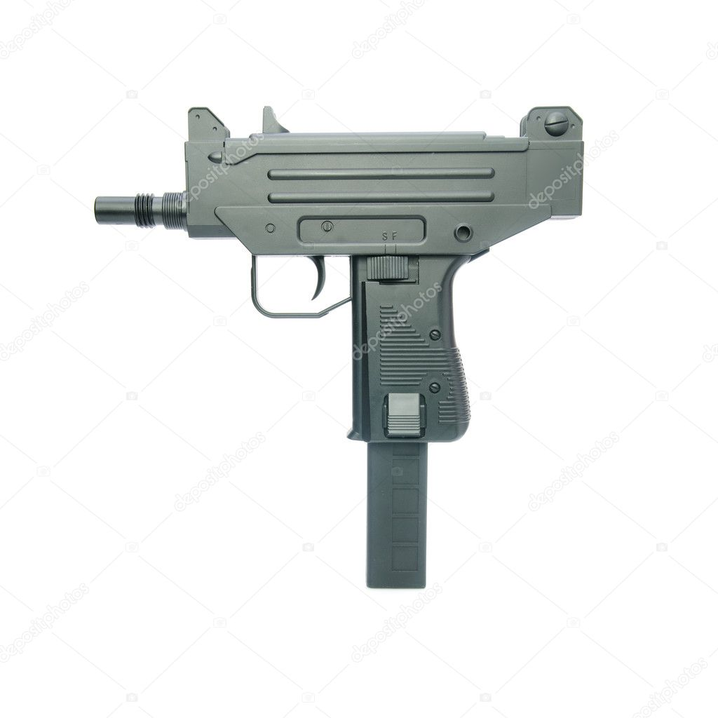 Isolated automatic weapon — Stock Photo #1228402