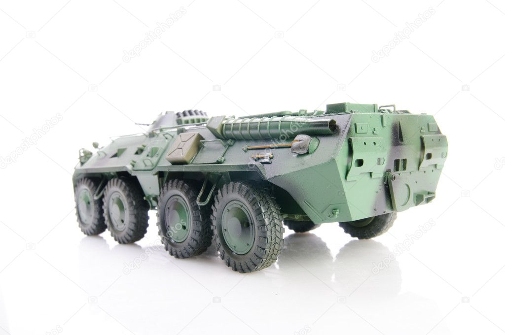 Isolated soviet apc — Stock Photo #1228570