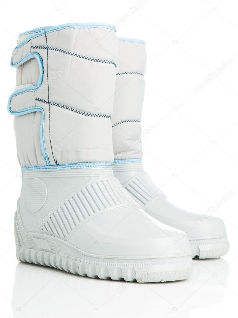 Isolated winter boots — Stock Photo #1622077
