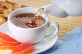 Cup of tea with biscuits — Foto Stock