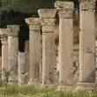 Columns in ancient Ephesus, Turkey — Stock Photo