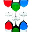 Coloured wine glasses — Stock Photo