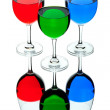 Stock Photo: Coloured wine glasses