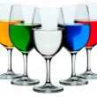 Royalty-Free Stock Photo: Five wine glasses