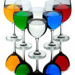 Five wine glasses — Stock Photo