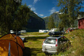 Camping on geranger fjord, Norway — Stock Photo