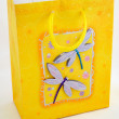 Stock Photo: Yellow gift bag