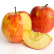Red apple with slice — Stock Photo #1342984
