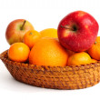 basket with fruit — Stock Photo